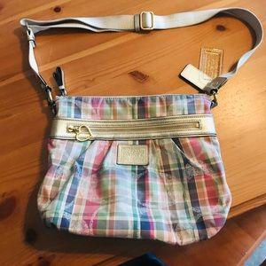 Coach Poppy Madras Crossbody purse